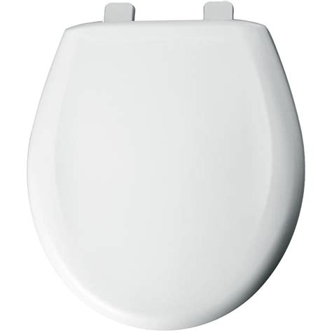 BEMIS Round Closed Front Toilet Seat with Cover in White ...
