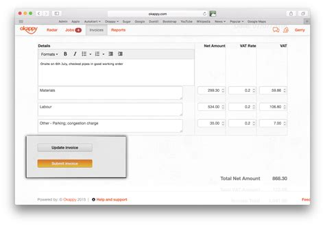 raise draft invoices  editing