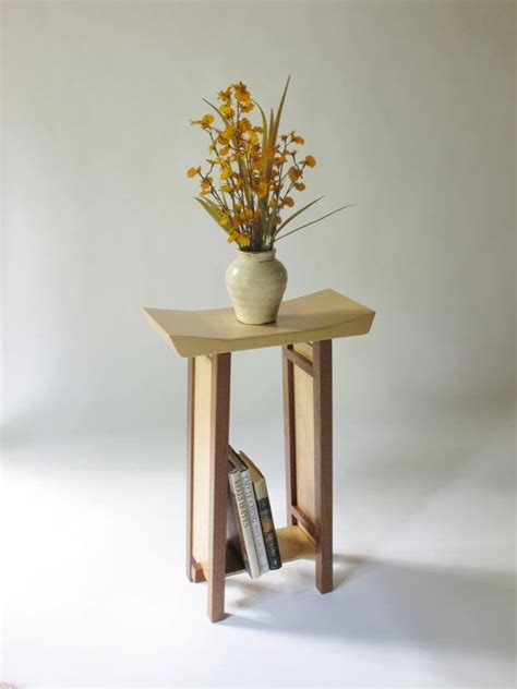accent table narrow side table wood nightstand small