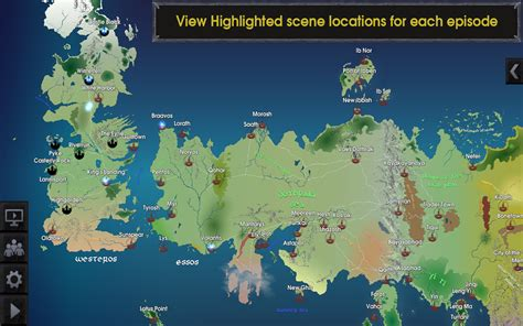 Carte Monde Of Thrones by Map For Of Thrones Localisez Les Sc 232 Nes Android Zone