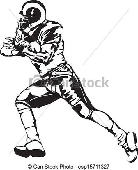 vector football player runningback cartoon