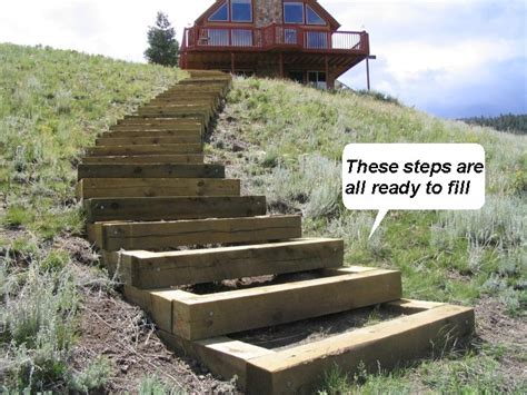 Building Outdoor Steps How To Build Steps Up A Hill