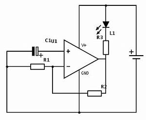 op amp how does this blinking circuit with op amp work With how circuit work