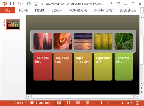 smartart powerpoint templates free animated picture list for powerpoint with colorful tabs