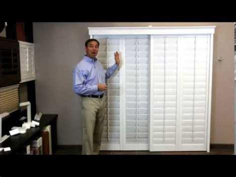 interior plantation shutters home depot plantation shutters on a sliding glass door