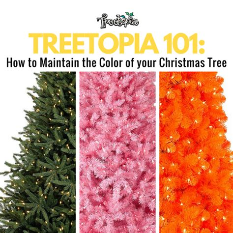 how to maintain the color of your artificial christmas