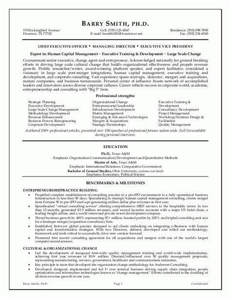 Ceo Resume Format by Sle Resumes Ceo Resume Executive Resume