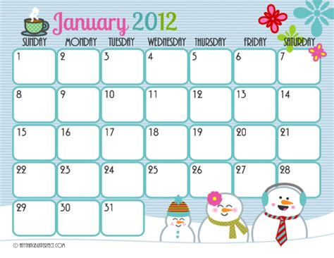 cute printable calendar frosting facials