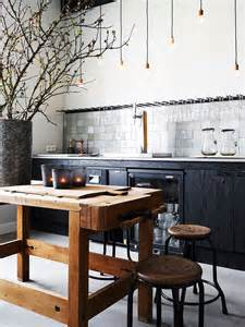 kitchen island rustic modern rustic kitchen with butcher s block island home decorating diy
