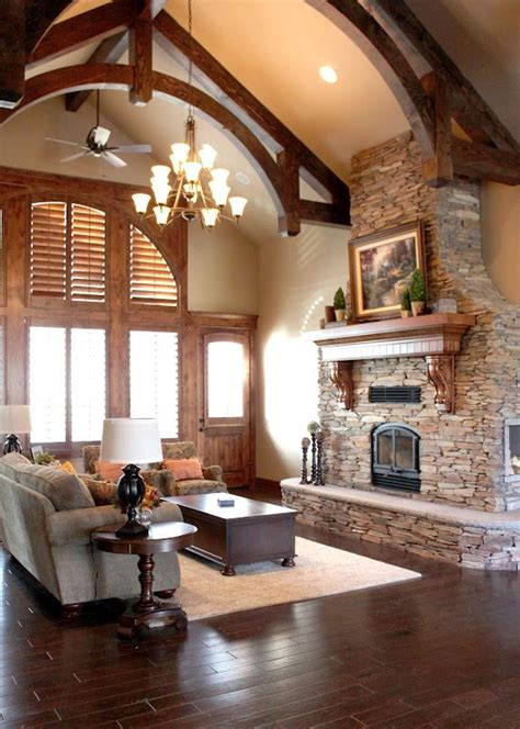 Love  Exposed Beams  Huge Fireplace