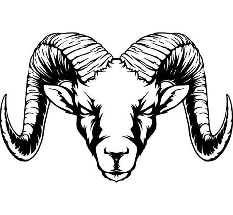 ram horns sheep zoo wild animal mascot svg eps png instant