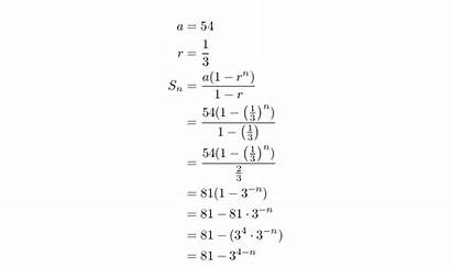 Geometric Sum Series Sequence Example Worked Sequences