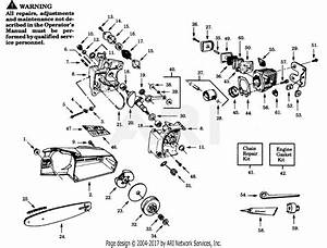 Poulan Pp236 Gas Saw  236 Gas Saw Parts Diagram For