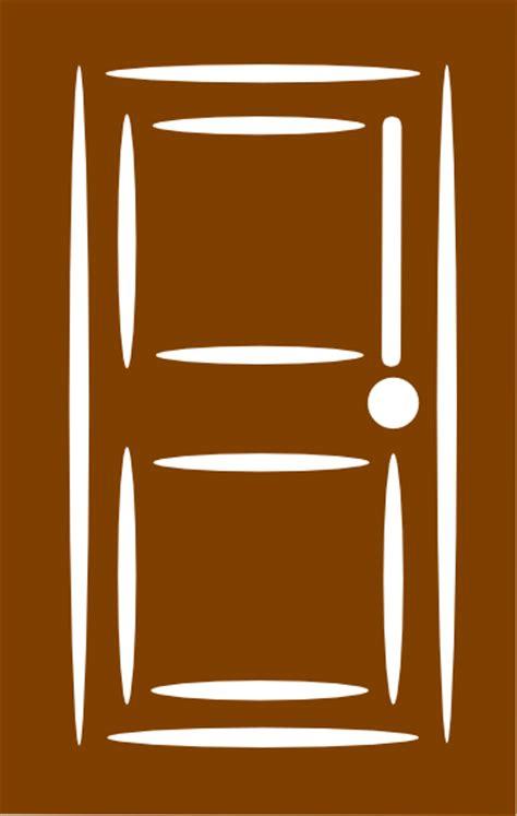 brown door clip art  clkercom vector clip art  royalty  public domain
