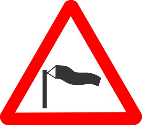 Free svg image & icon. Road Signs Crosswind clip art (109635) Free SVG Download ...