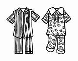 Pajamas Coloring Pages Colouring Template Colorear Coloringcrew Boys Templates Print Picolour sketch template