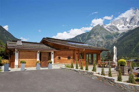 luxury ski chalet chamonix mont blanc marmotte mountain eco lodge