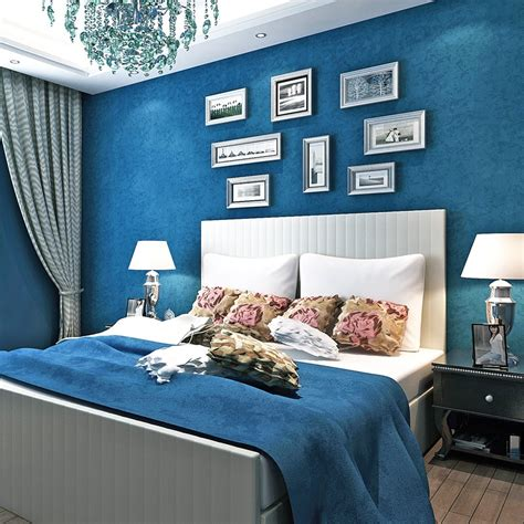 bacaz  blue wallpaper solid color wallpaper rolls