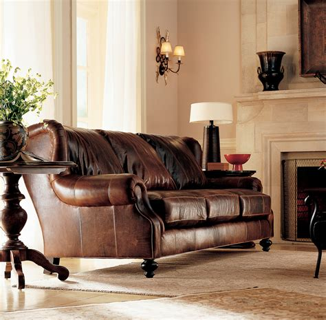 decor mesmerizing brown leather sectional sofa  living