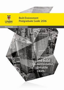 UNSW Built Environment Postgraduate Guide 2016 by UNSW ...
