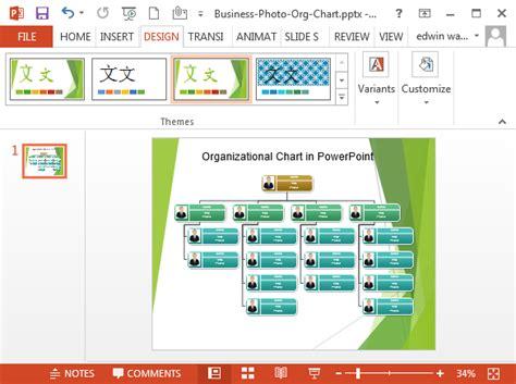 organizational chart  powerpoint