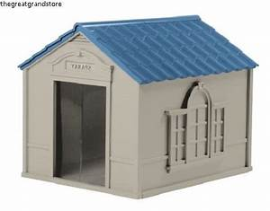 Suncast dog house indoor outdoor durable shelter pet extra for Extra large indoor dog house