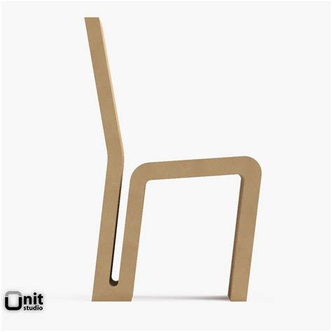 vitra easy edge side chair by frank o gehry 3d model max