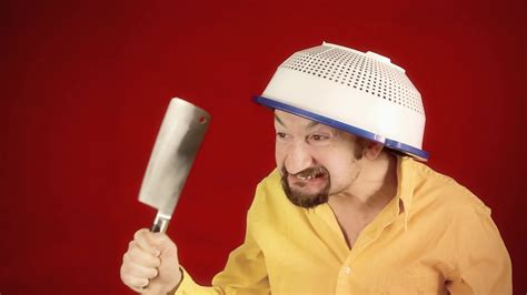 Ugly Crazy Colander Blade A Funny Ugly Angry Crazy Man