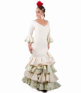 robe flamenco femme beige et vert el rocio With robe flamenco femme
