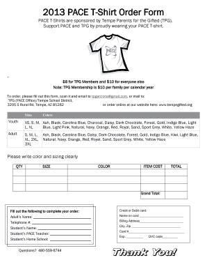 22078 t shirt order forms fillable pace t shirt order form sharpschool fax