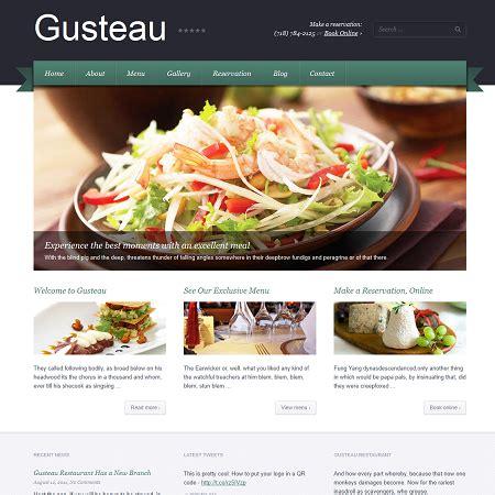 Wp Restaurant Themes Gusteau Restaurant Theme