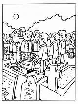 Funeral Coloring Pages Deceased Holiday sketch template