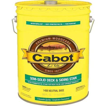 cabot semi solid oil based deck  siding stain neut bs