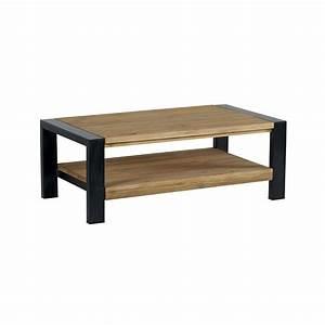 Table De Salon Alinea : table basse rectangulaire pin massif bross 110cm loundge ~ Dailycaller-alerts.com Idées de Décoration