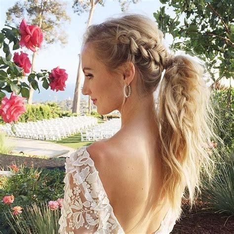 best 25 side braid wedding ideas on