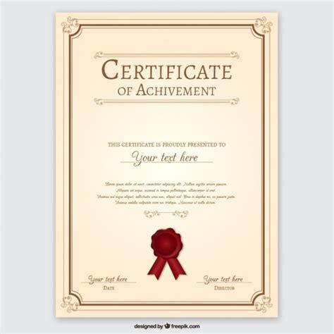 cer van layout certificate of achievement vector free download