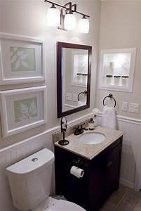 black, cream & white small bathroom Decorating Samples I