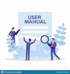 User Manual Concept Flat Illustration  People Working