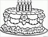 Cake Birthday Coloring Adults sketch template