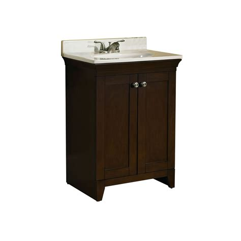 lowes small bathroom sinks shop allen roth sycamore nutmeg integral single sink