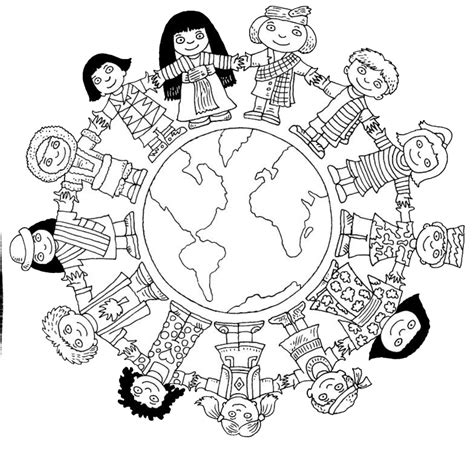 children   world coloring page coloring pages