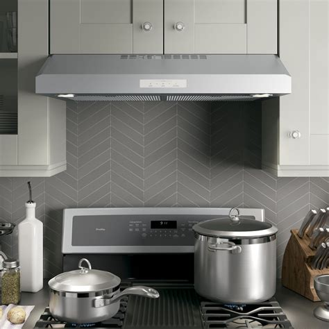 Low Profile Range Hoods Under Cabinet Cabinets Matttroy