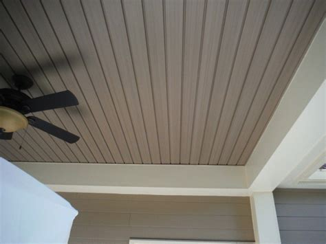 Brown Beadboard : Vinyl-porch-ceiling-material-options