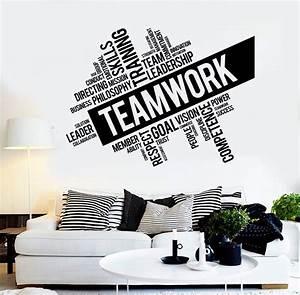 Teamwork Vinyl Wall Decal Word Cloud Success Office Decor