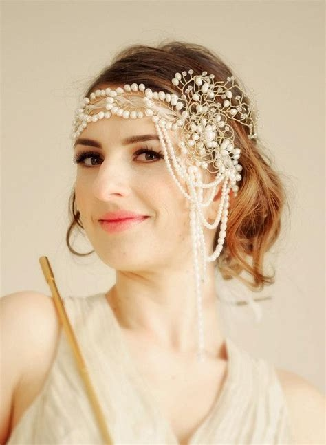Wedding Bridal Flapper Headband Gone With The Wind   MADE
