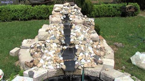 garten wasserfall selber bauen gartengestaltung ideen kleine wasserfall im garten bauen 3