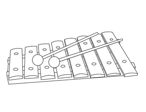 Coloring Xylophone by Xylophone Coloring Pages Learny