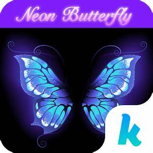 Download Neon Butterfly Keyboard Theme for PC