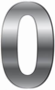 Silver Number Zero PNG Transparent Clip Art Image