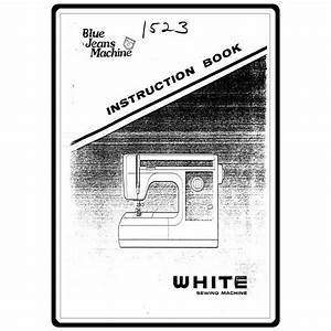 Instruction Manual  White 1523   Sewing Parts Online